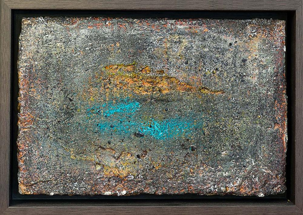 Nacht Freskotechnik auf Fermacellplatte, 2015 30x20