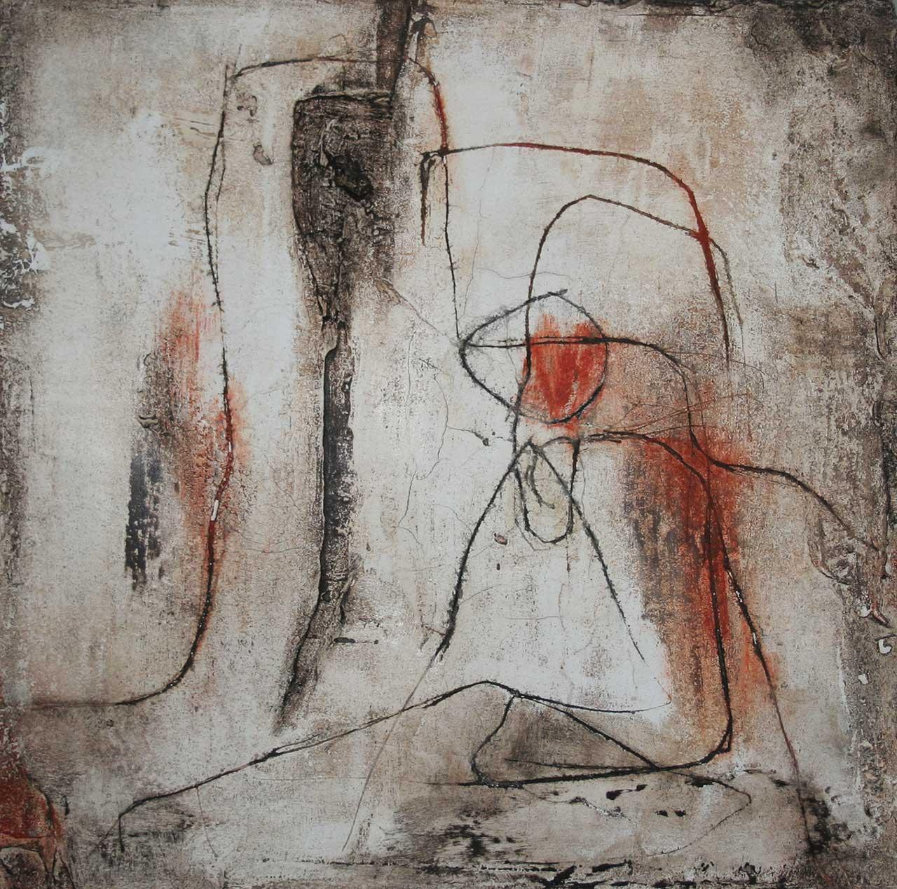 Fresko Figur 1 Paar Freskotechnik auf Leichtbauplatte