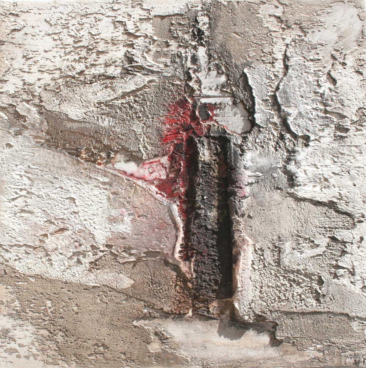 Struktur Erde 6 Verletzung Mischtechnik auf Leinwand