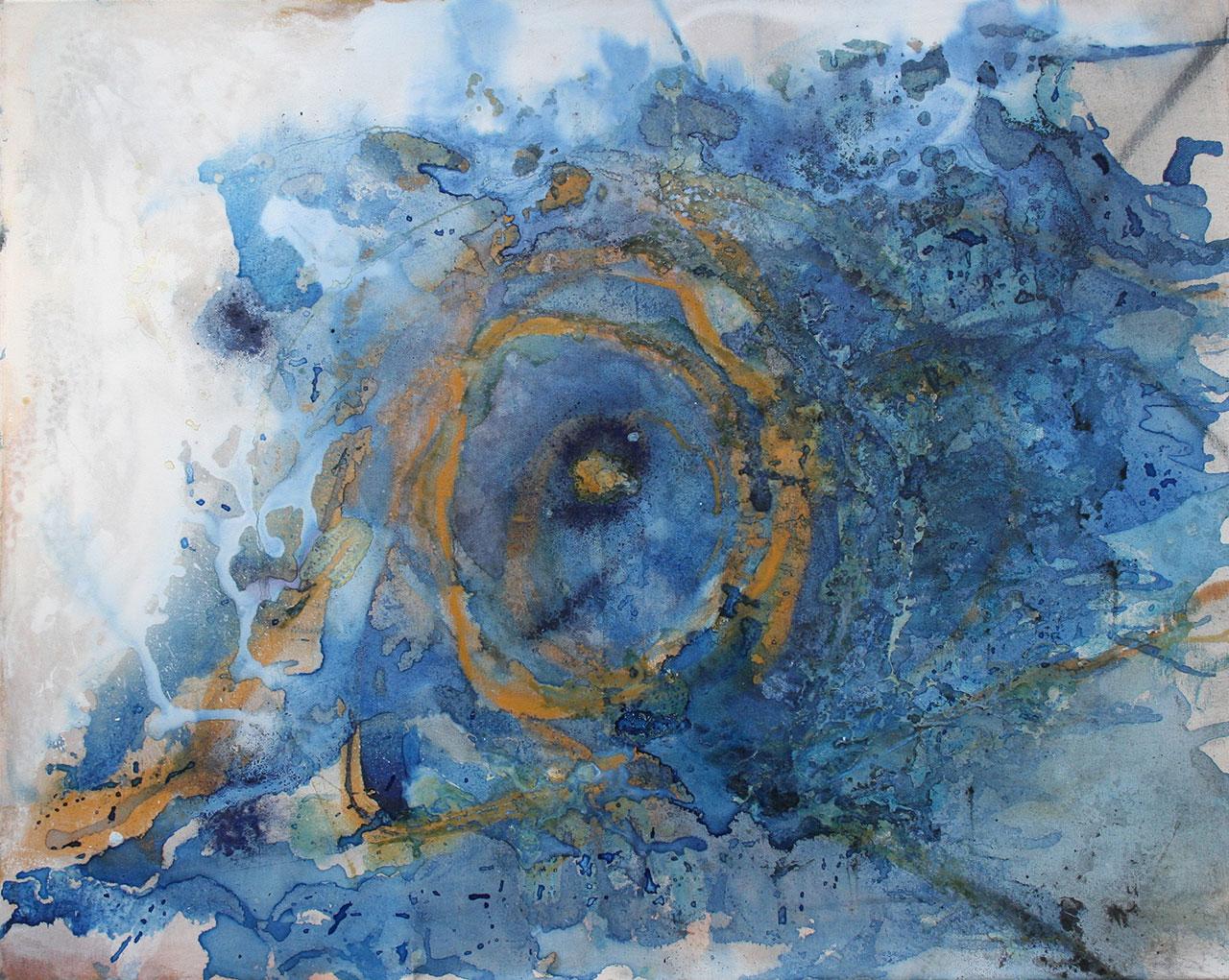 Anfang, Mischtechnik auf Leinwand, 2015, 80x80