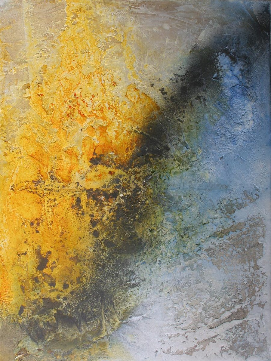 Himmel und Meer, Mischtechnik auf Leinwand 2016 60x80