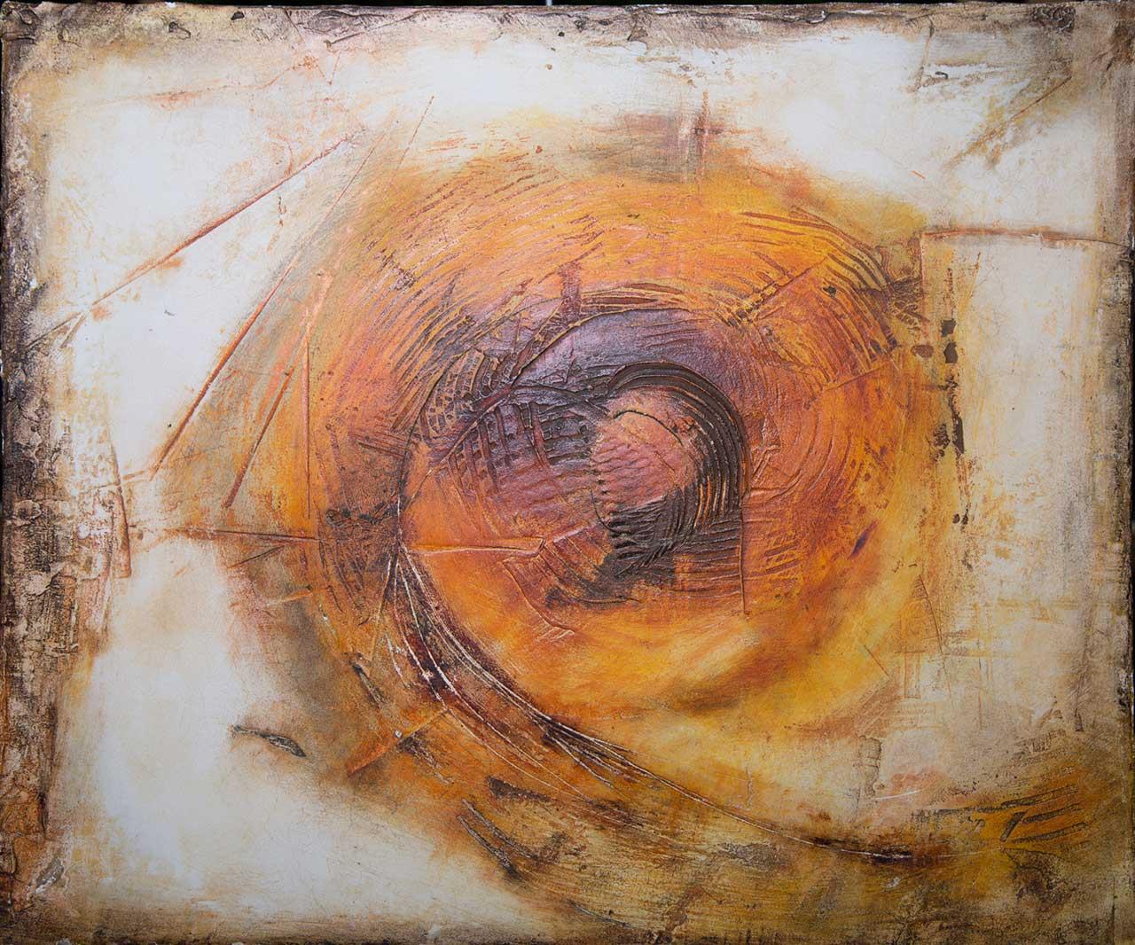 Fresko Wege 3 Freskotechnik auf Fermacellplatte 2015, 60×50