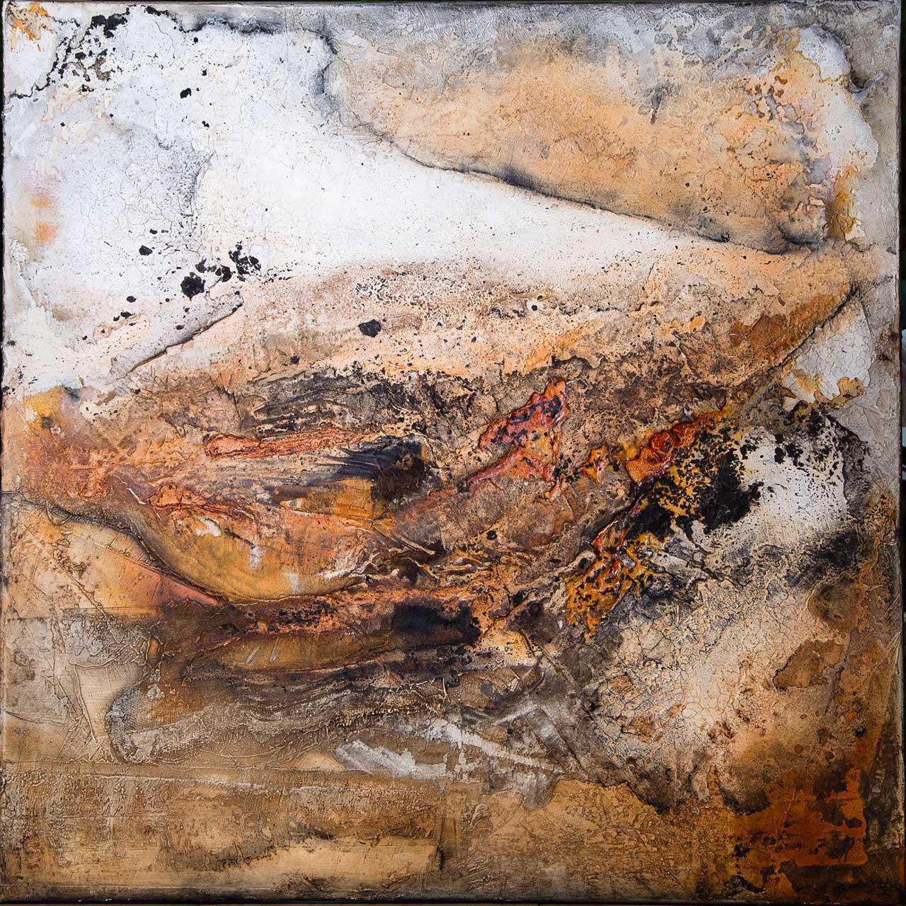 Verborgen, Mischtechnik auf Leinwand, 2015,80x80